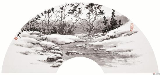 寒空飘素尘 21X60cm 2015年