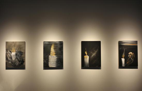 《天界之光No.25》 油画 亚麻布、丙烯 80×60 cm×4 2017