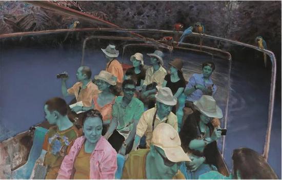 《遐想》布面油畫180cmx280cm 2012