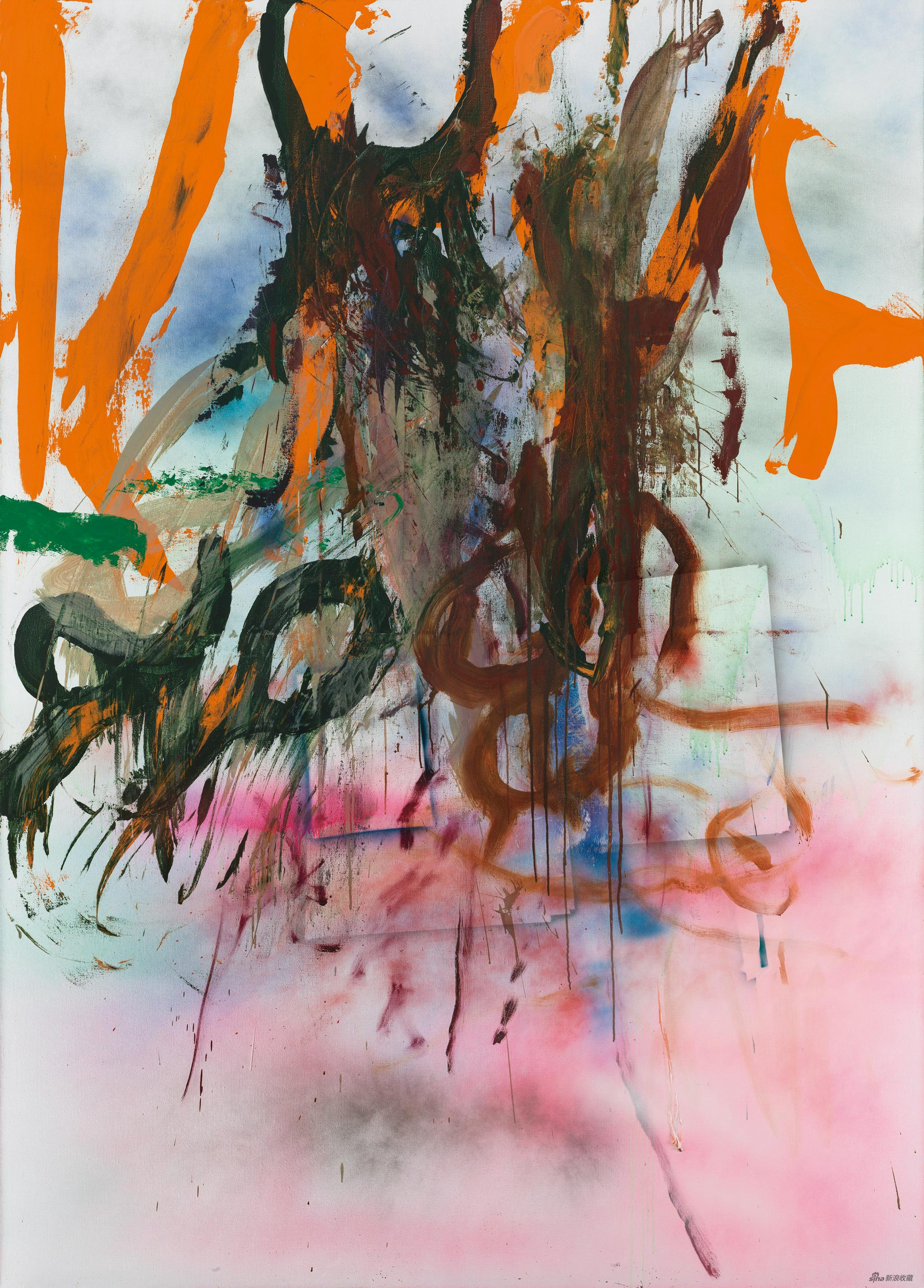 仇晓飞 Qiu Xiaofei Tape Junk No。 3 布上丙烯 Acrylic on canvas,280 × 200 cm,2015 ©艺术家和佩斯画廊