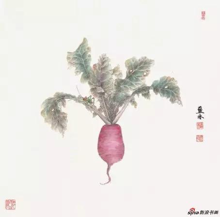 《农家小蔬》69cm×66cm