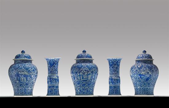 Luis Algeria康熙青花瓷饰品5件套