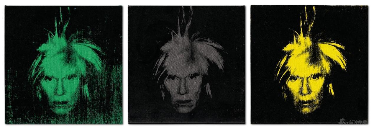 《三幅自画像》(Three self portraits),安迪·沃霍尔,1986