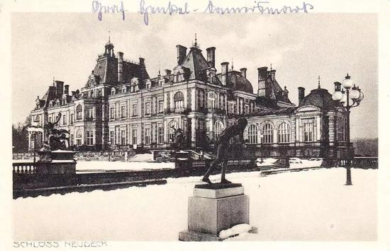 拉佩瓦(LaPa?va) 生前曾居住过的诺伊德克宫(Schloss Neudeck) (摄于1900年)