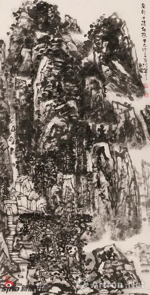 《京郊十渡纪游》 材质:纸本 尺寸:137cmx67cm