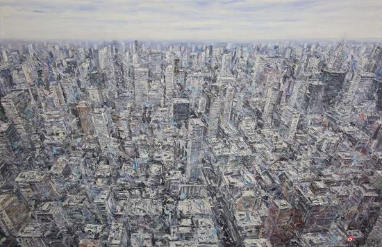 看不见的城市NO.24-130x200cm-布面油画-2018