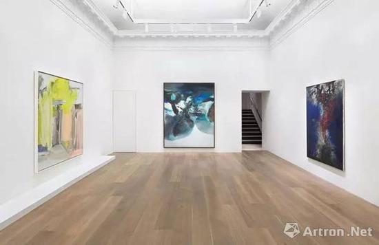 """除了拍卖行,像Dominique Lévy Gallery也曾经将赵无极和德·库宁并置,试图打通一条贯穿东西的""""战后艺术""""通路"""
