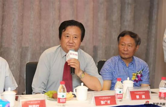 中国画学会理事、江苏省中国画学会副会长张广才发言