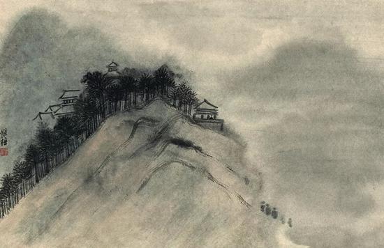 朱雅梅 山水图之一 45cm×69cm 纸本设色 2018年
