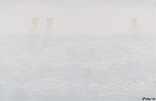 田黎明 作品名称:净水,画心尺寸:97.2X149.4cm,创作年代:2012年