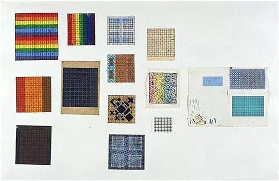 草图13件 1987-1989 纸本丙烯、铅笔、墨