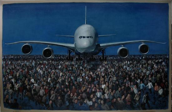 2008年《大飞机》260x400cm