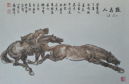 谈军旅书画家陈有杰的鞍马人物画创作