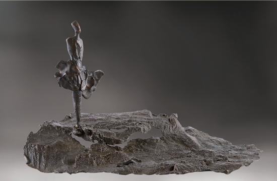 Scrutando l'Universo 探索宇宙 石蜡剥离铸铜 25x30x30cm