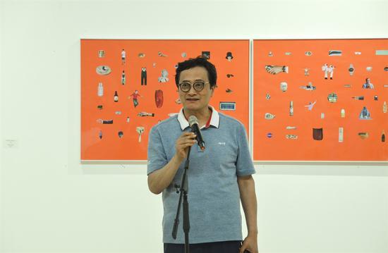 韩国艺术家代表文常旭致辞