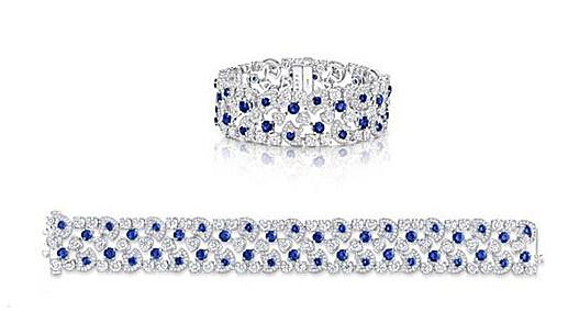 Graff 格拉夫 Icon系列蓝宝石和钻石手镯