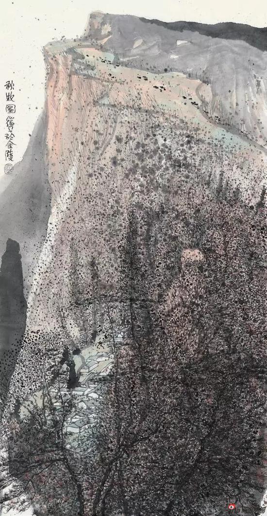 《秋牧图》 133cm x 69cm   朱道平