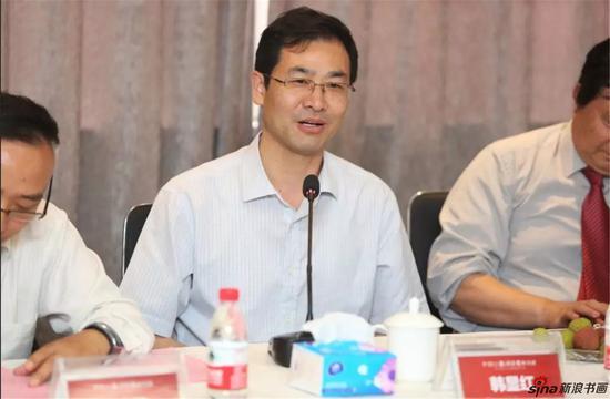 江苏省中国画学会副会长、南京图书馆党委书记韩显红发言