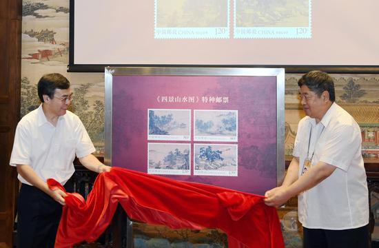 中国邮政集团广发证券 董事长刘爱力(左)、故宫博物院院长单霁翔(右)