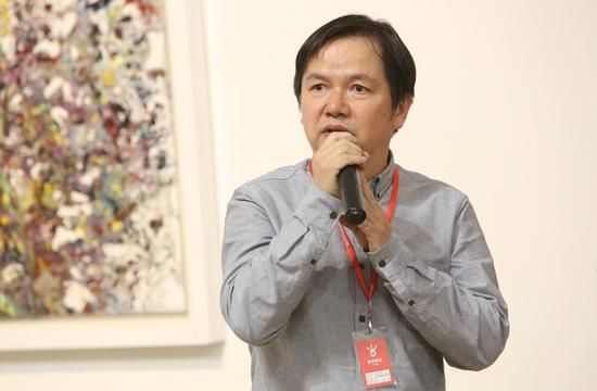 本次举办个展的艺术家王新福致辞