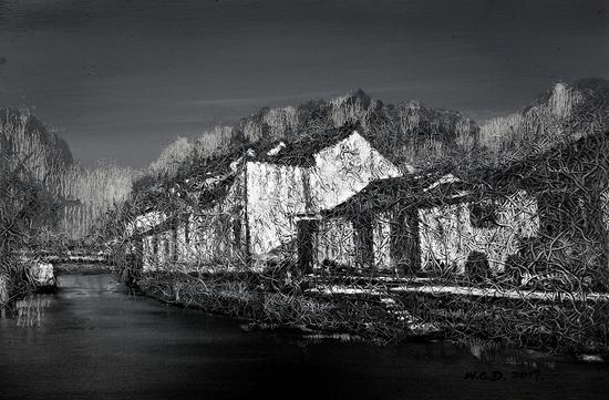 《江南·切片》系列-184 60x90cm 布面油画 2017