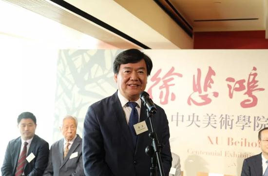 中央美术学院党委书记高洪在开幕式上致辞