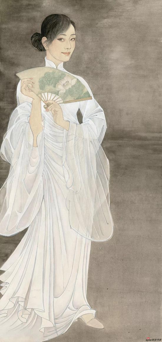 《莲》 69cm×145cm 高云 江苏省中国画学会会长