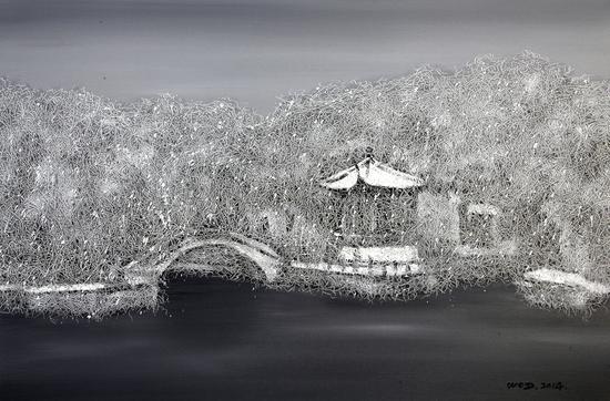 《江南·切片》系列-38 60x90cm 布面油画 2014