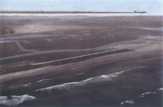 37。陈勇劲《巡航》水彩 110cm×170cm 2008年 中国美术馆藏