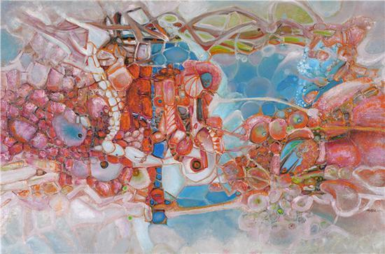 刘国义 一切生命都有被爱的机会 180x120cm 油画 2017年