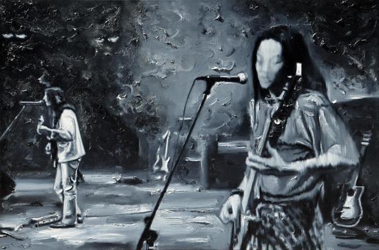 黑白镜头2 50×75cm 油画2011