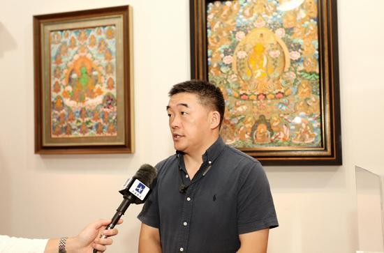 中国民族贸易促进会非遗工作委员会副主任杨青湖
