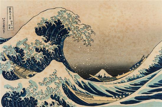 葛饰北斋-《神奈川冲浪里》-1831年