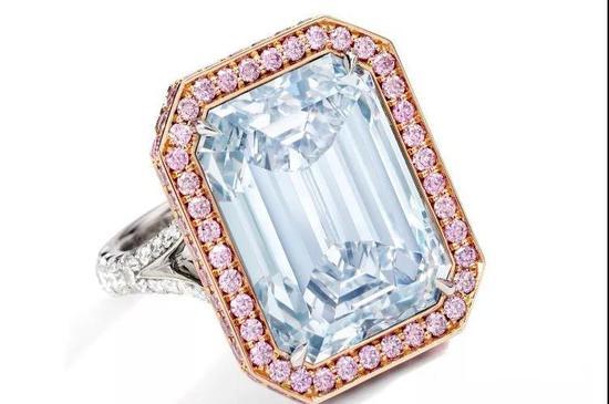 蓝色钻石、粉色钻石及钻石戒指