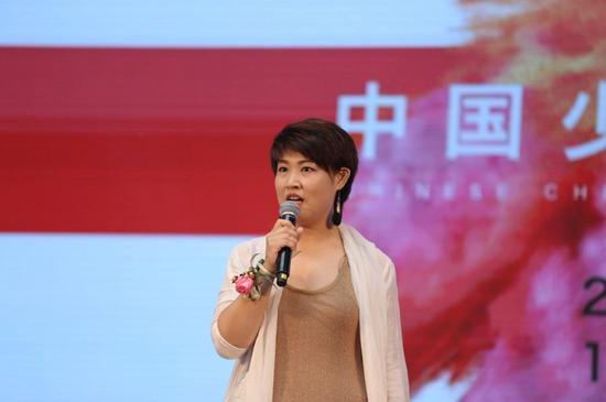 中国少儿美育双年展策展人、美育中国项目发起人贾佩玲
