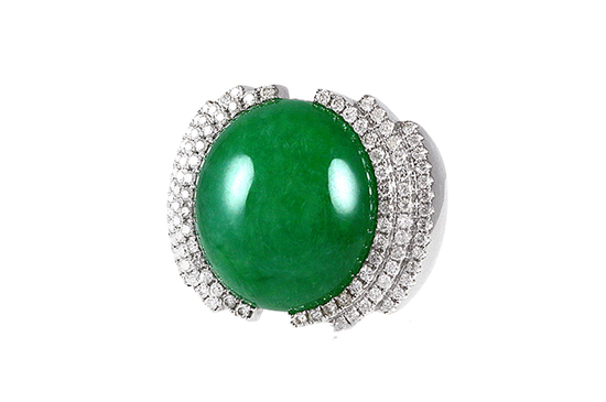帝王绿(祖母绿)翡翠戒指