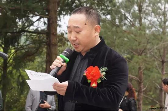 中国奇石收藏家协会会长刘国强发言