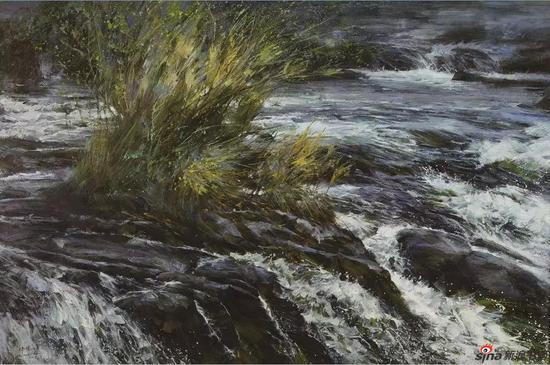 《融冰时节》80X120cm 油画