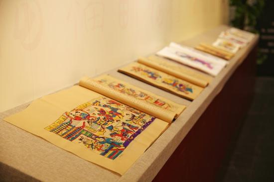 杨家埠木版年画《历代帝王全图》