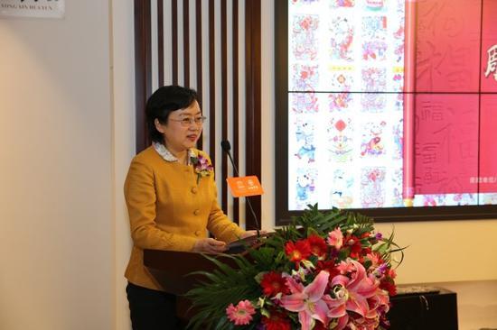 中国妇女儿童博物馆副馆长、文化部非遗专家杨源致辞