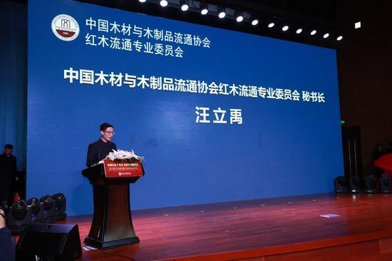 中国木材与木制品流通协会红木流通专业委员会汪立禹秘书长发言
