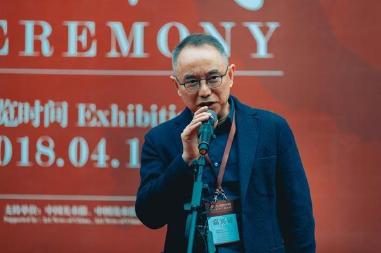 湖南省文联党组成员副主席、湖南省画院院长、湖南省美术家协会常务副主席刘云致辞