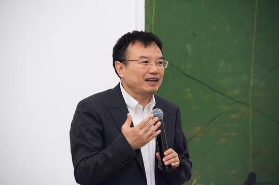 北京大学艺术学院副院长、展览策展人彭锋教授在开幕式上致辞