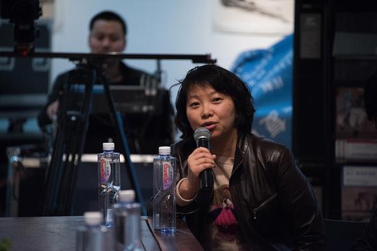 北京电影学院动画学院党委书记李亮在研讨会上发言