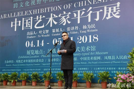 中国国家画院美育研究所副所长、中国艺术家平行展策展人杨为民致答谢辞