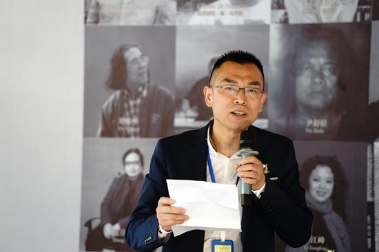 法国浙江商会名誉会长、本次活动发起人之一吴志平先生致词