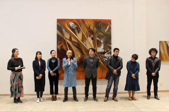 """张长收在李木子个展""""非物象的超感""""开幕式上发言"""
