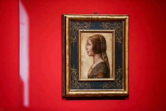 达芬奇油画原作《美丽的公主》