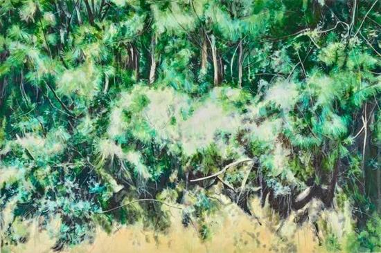 《灵鹫-2》 布面油画 20×180cm 2017