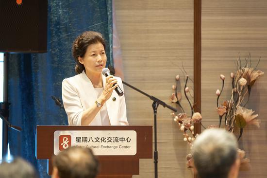 星期八文化交流中心创始人刘艳霞现场发言